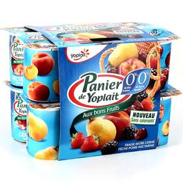 PANIER 0% MG FRUITS PANACHE 125GX12