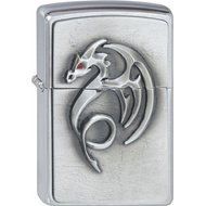 Zippo 2001321 No.200 Red-Eyed Dragon Emblem Cigarette Lighter