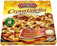 Croustinella, pizza jambon fromages, la pizza,350g