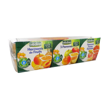 coupelles fruits bledina 24x100g