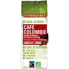 Cafe moulu de Colombie ETHIQUABLE, 250g