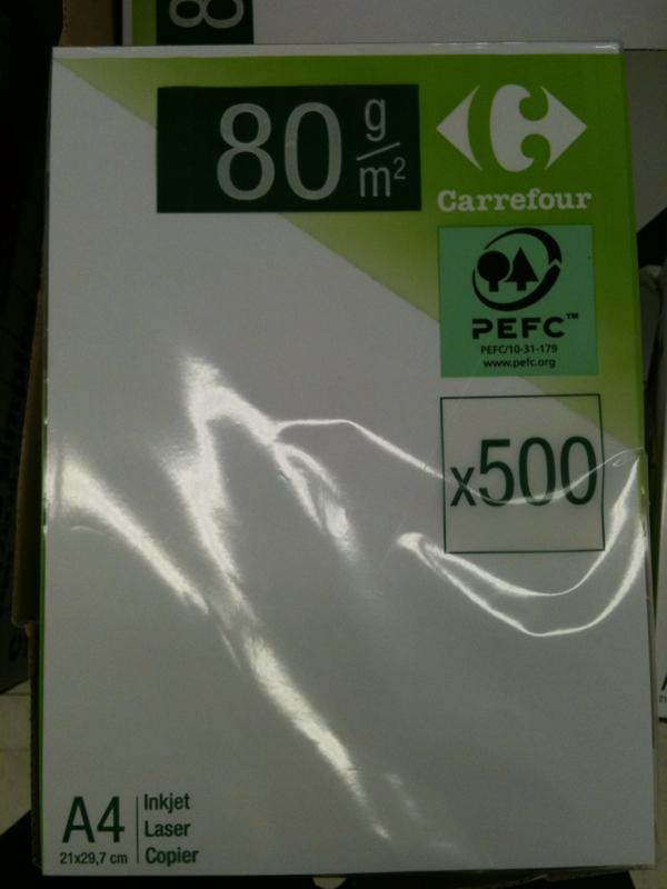auchan ramette papier ultra blanc 80g 500 feuilles a4. Black Bedroom Furniture Sets. Home Design Ideas