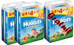 Couches Huggies Superdry Jumbo T3 5/9kg x64 + 4