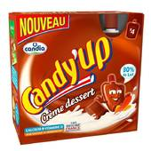 Candy Up crème déssert au chocolat 85gx4