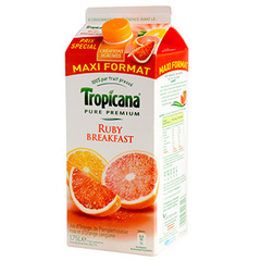 Pur jus ruby breakfast Tropicana Pure Premium, brique 1,75l