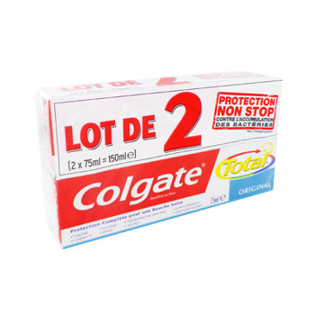 dentifrice total original colgate 2x75ml