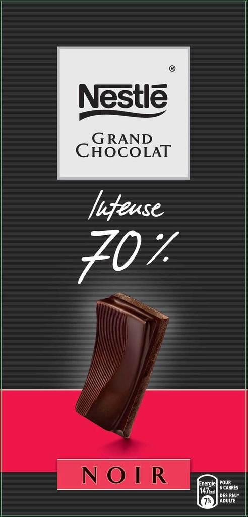 chocolat poulain ligne gourmande noir 70 cacao 100g