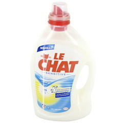 Le Chat lessive liquide sensitive au savon de marseille 25 lavages 3l