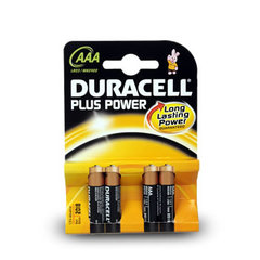 PILE DURACELL AAA LR03 PLUS POWER X4