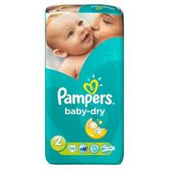 Couches Pampers Baby Dry Géant T2 x56