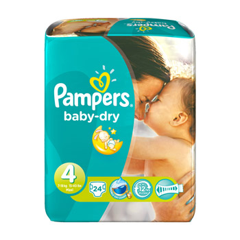 PAMPERS BBDRY PAQUET T4X24