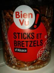 Sticks et bretzels sales BIEN VU, 300g