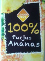 Pur jus d'ananas 1l