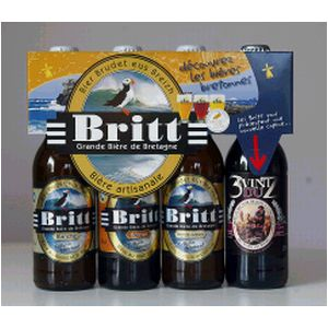 Coffret de 4 bieres BRITT assorties, 4x33cl
