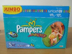 Couches pour bebe Baby Dry PAMPERS junior, 11-25kg, 74 unites