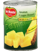 Del Monte ananas tranches au jus d'ananas 340g