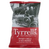 Tyrrells Hand Cooked English Crisps - Sweet Chilli & Red Pepper (150g)