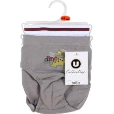 2 Slip Dino U COLLECTION, gris souris, taille 6A