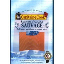 Capitaine Cook, Saumon d'Alaska sauvage, peche durable MSC, la barquette de 120g