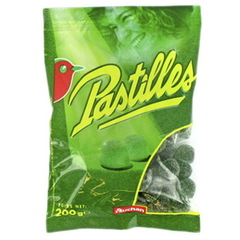 Pastilles arome Menthe Confiserie gelifiee.