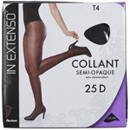 In Extenso collant semi-opaque noir 25D taille 4