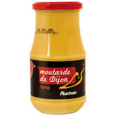 Auchan Moutarde forte bocal 440g