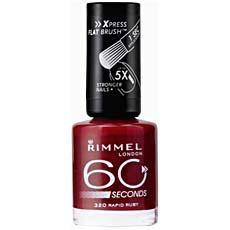 Vernis a ongles 60 Seconds RIMMEL, n°320 Rapid Ruby, 8ml