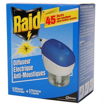 Raid diffuseur liquide recharge 45 nuits tous les - Raid anti moustique ...