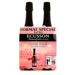 Cidre Ecusson rose 2x75 cL 2.5% vol