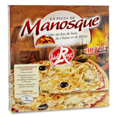Pizza de manosque, Pizza au chevre label rouge , le boite de 430 gr