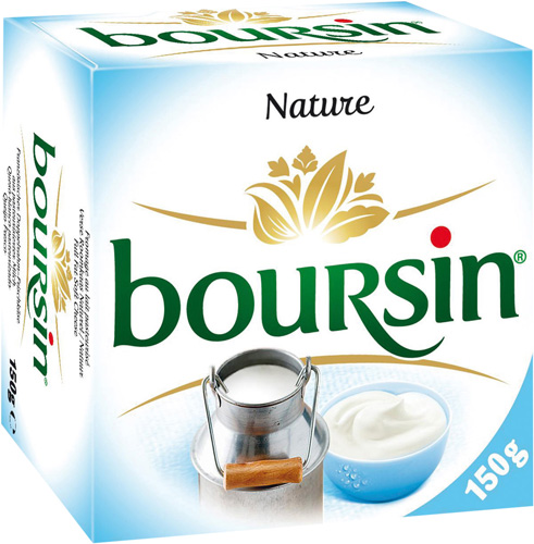 BOURSIN nature au lait pasteurise, 42%MG, 150g