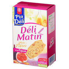 Biscuits P'tit Deli deli matin Figues 300g