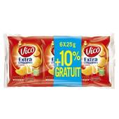 Vico chips extra craquante nature 6x25g + 10%gt
