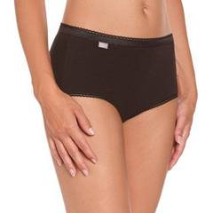 2 Slips Midi Cotton PLAYTEX, noir, taille 46