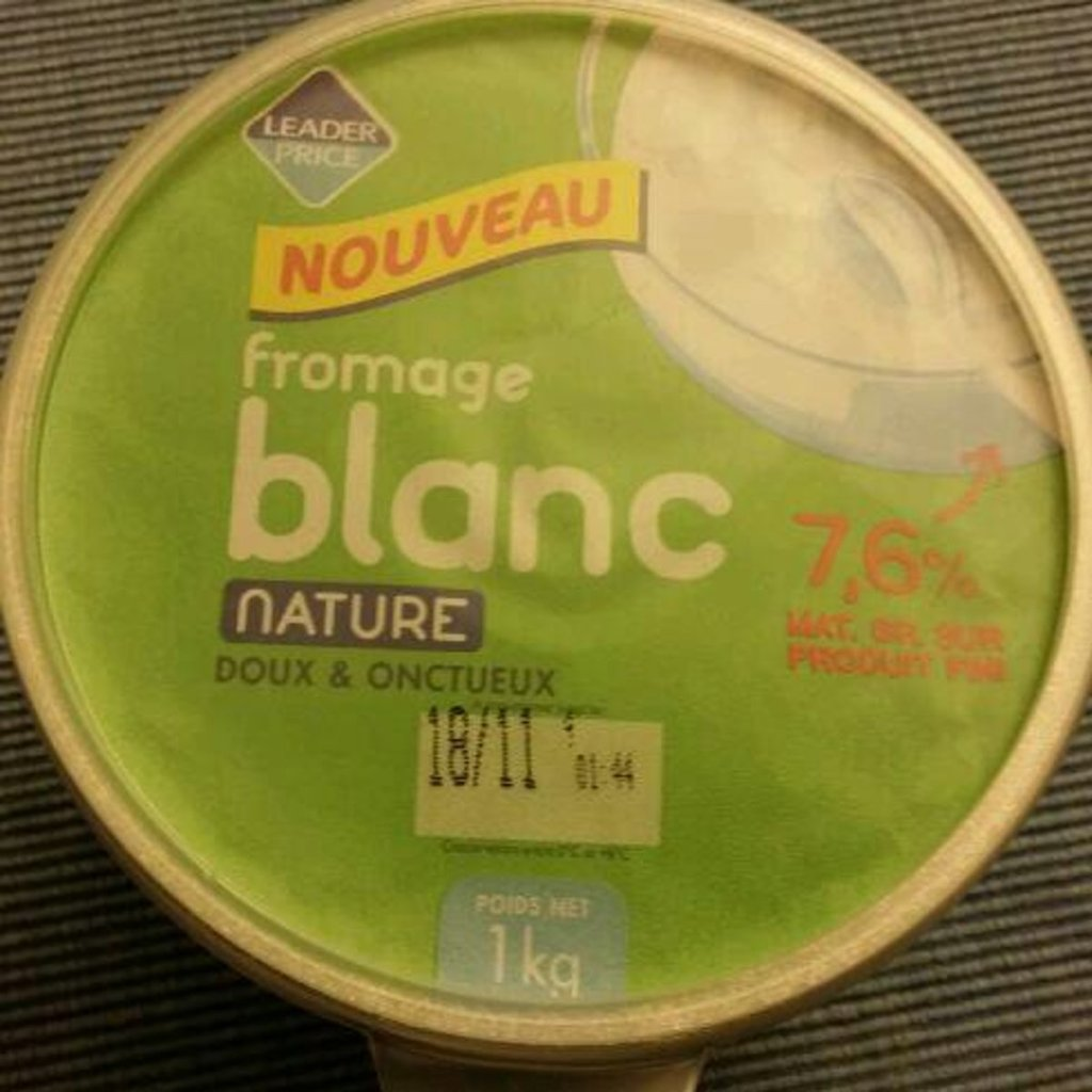 Fromage blanc, 7.6% MG 1kg
