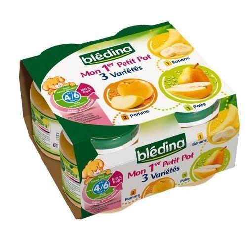 petits pots bledina pomme poire banane 4x130g tous les produits desserts aux fruits prixing