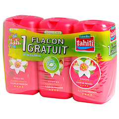 Tahiti gel douche passion 3x250ml