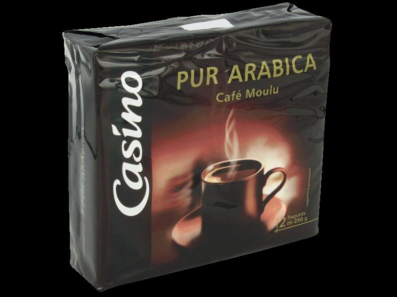 cafe moulu pur arabica le 2 paquet de 250g tous les produits caf s moulus en grains prixing. Black Bedroom Furniture Sets. Home Design Ideas