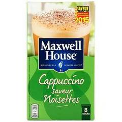 Cappuccino saveur noisette MAXWELL HOUSE, 148g