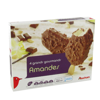 Auchan grand gourmand amande x4 - 480ml