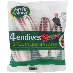 Endives rouge Perles du Nord Special salade x4 650g