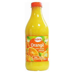 Jus d'orange a base de concentre
