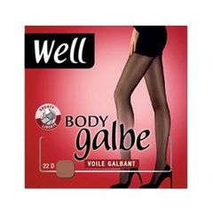 Collant voile Body Galbe WELL, taille 2, miel
