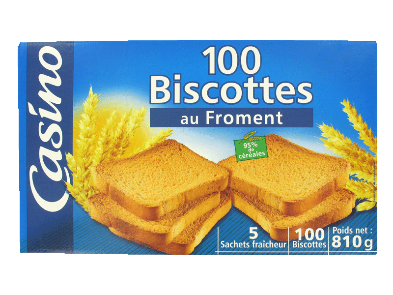 100 biscottes au froment 810g