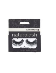 Salon System Naturalash Quick and Easy Re-Usable Black 145 Lashes