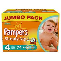 Pampers simply dry jumbo 7/18kg taille 4