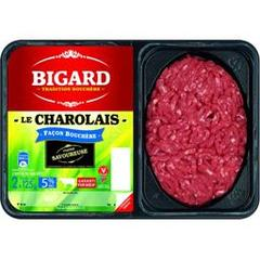 Bigard, Steak hache charolais basse pression 5% MG, les 2 steaks de 125g