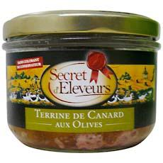 Terrine de canard aux olives SECRET D'ELEVEURS, 180g