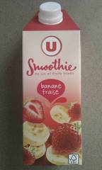 Smoothie banane fraise U brick 75cl