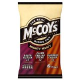 McCoy's Ridge Cut Crisps - Mighty Meaty Variety (6x30g)